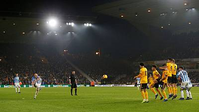 Mooy brace lifts Huddersfield off the bottom with win at Wolves