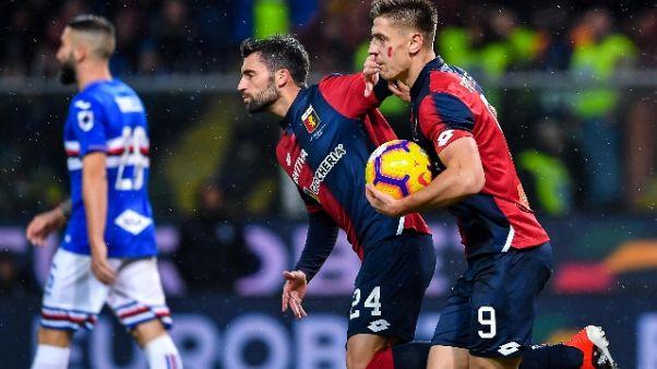 Derby Genova in parità, è finito 1-1