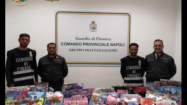 25mln giocattoli sequestrati a Napoli