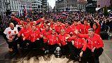 Croats dance as Davis Cup victors come home