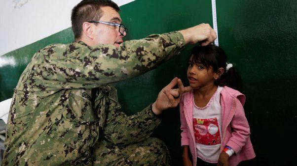 U.S. navy hospital ship brings care to Venezuela migrants in Colombia