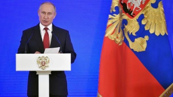 Le président russe Vladimir Poutine, le 4 novembre 2018 à Moscou