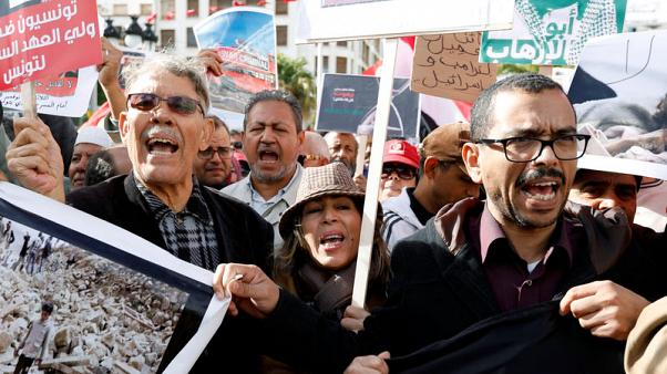 Tunisians stage first Arab protests against visiting Saudi crown prince