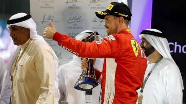 F1: test Abu Dhabi, vola Ferrari Vettel