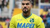 Sassuolo: stop Boateng, torna nel 2019