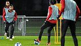 Le joueur de Lyon Nabil Fekir à l'entraînement le 26 novembre 2018