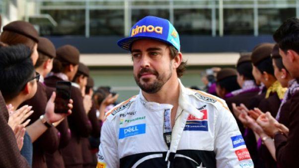 L'Espagnol Fernando Alonso lors du GP d'Abou Dhabi le 25 novembre 2018