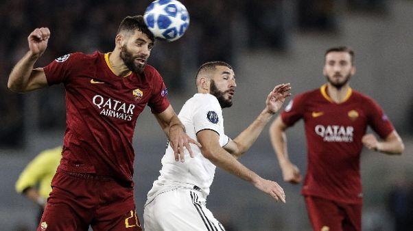 Champions: Roma-Real Madrid 0-2