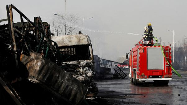 Chain reaction of blasts kills 23 in China's latest industrial accident