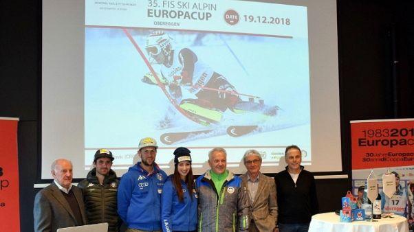 Sci: svelata la Coppa Europa a Obereggen