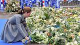 Prince William and Kate pay tribute to Leicester City crash victims