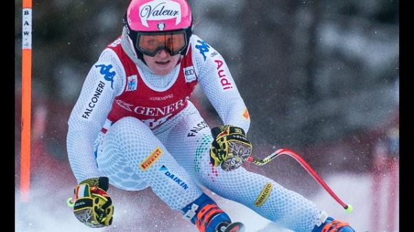 Sci: prove discesa Lake Louise a Weidle