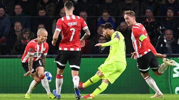 More Messi magic seals Barcelona victory at PSV