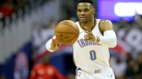 NBA: Westbrook et Harden voient triple