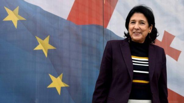 Salomé Zourabichvili le 9 novembre 2018 à Tbilissi, en Géorgie