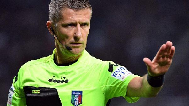 Arbitri: Orsato per Fiorentina-Juve