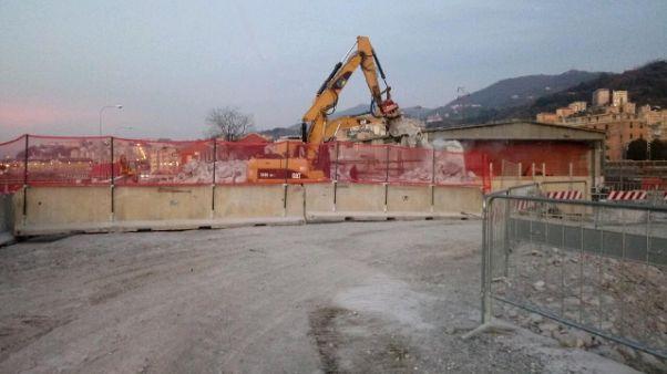 Ponte Genova: Bucci, 'Demolito pilone 9'