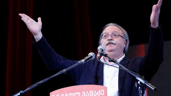 مرشح المعارضة المهزوم في جورجيا يرفض نتيجة الانتخابات ويدعو للاحتجاج