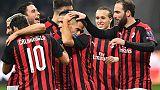 Europa League: Milan-Dudelange 5-2