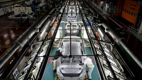 Japan factory output expands most since 2015, but outlook dims