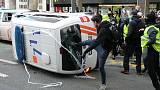 Brussels police fire water cannon at 'yellow vest' protesters