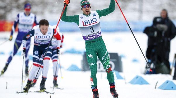 Sci nordico, Pellegrino trionfa in Cdm