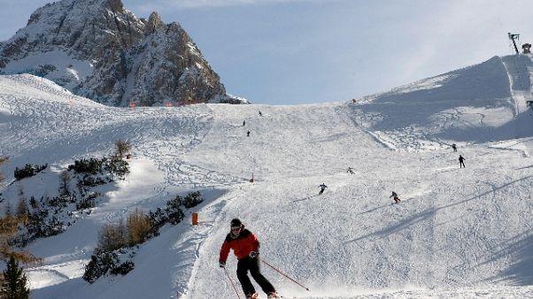 A Cortina apre primi impianti invernali