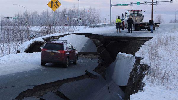 Powerful quake rattles Anchorage, hitting roads, bridges hardest