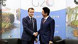 """Affaire Ghosn: Macron demande à Abe que l'alliance Renault-Nissan soit """"préservée"""""""