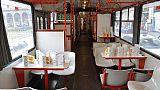 Torna bus ''Casa degli angeli' a Milano