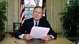 Nombreux hommages à l'ex-président américain Georges H.W. Bush après son décès