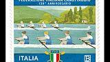 Canottaggio, francobollo per i 130 anni