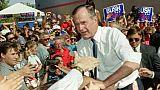 Le président George H.W. Bush, le 5 août 1992 à Reno, dans le Nevada