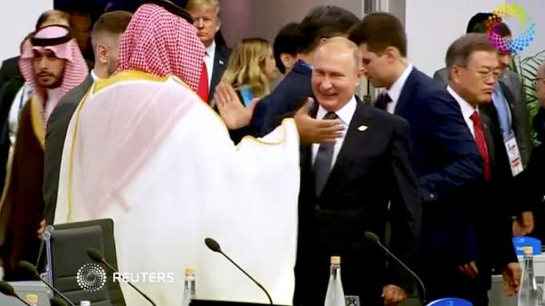 A high-five from Putin and that awkward photograph - Saudi prince's G20 summit