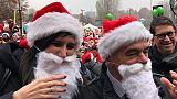 Torino, maxi raduno Babbi Natale