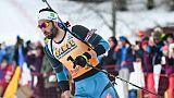 Biathlon: la France avec Martin Fourcade remporte le relais mixte de Pokljuka