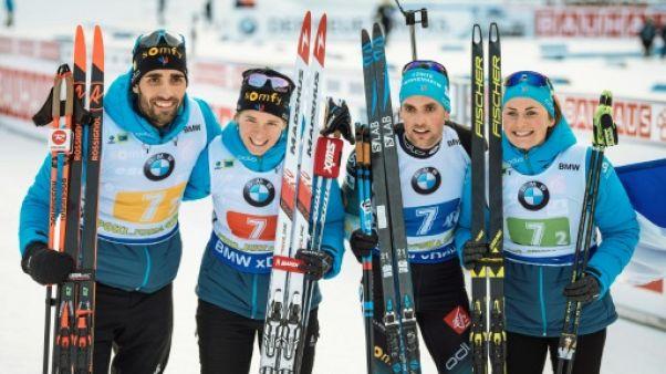 Biathlon: la France de Fourcade tient son rang