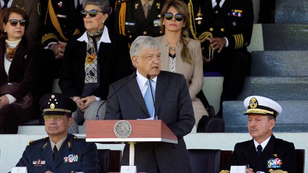 Mexico's new president takes aim at violence during first day in office