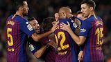 برشلونة يتفوق على فياريال ليعود لصدارة الدوري الاسباني