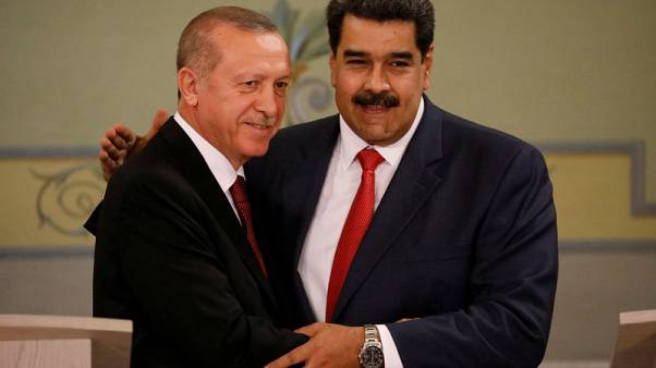 Turkey's Erdogan slams Venezuela sanctions, Maduro defends gold exports