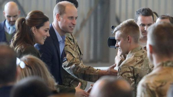 Prince William and Kate thank British troops in Cyprus