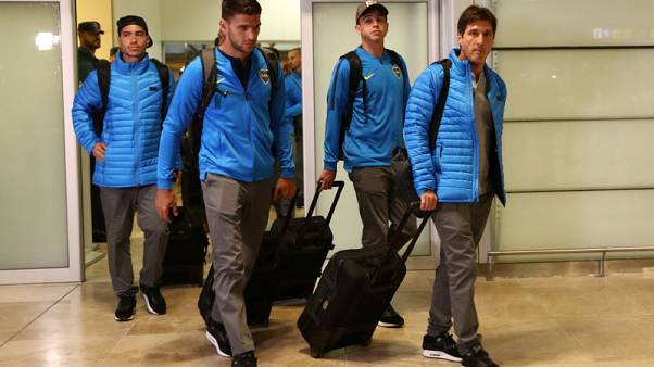 Boca land in Madrid amid tight security for Libertadores