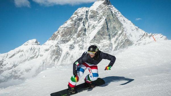 Snowboard, a Cervinia recupero Montafon