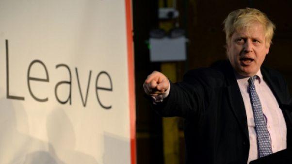 Boris Johnson le 15 avril 2016 à Manchester, dans le nord de l'Angleterre