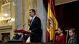 """Espagne: le roi défend une Constitution garantissant """"l'unité"""" du pays"""