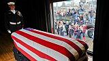 Dernier adieu à l'ex-président américain George H.W. Bush