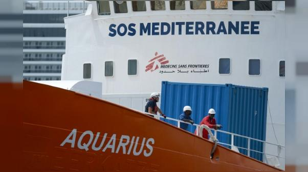 Le navire humantaire Aquarius, le 15 août 2018 à Senglea, à Malte