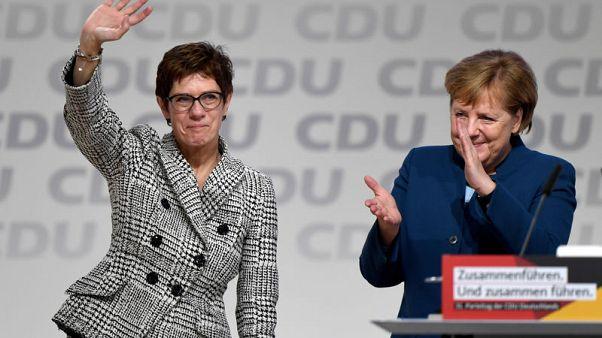 Merkel protege Kramp-Karrenbauer succeeds her as German CDU leader