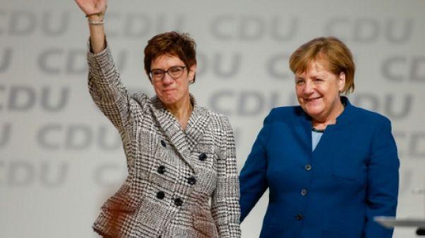 Annegret Kramp-Karrenbauer et Angela Merkel, le 7 décembre 2018 à Hambourg