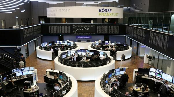 European shares try to rebound after global sell-off